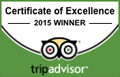 Trip Advisor Centre of Excellence Winner 2015